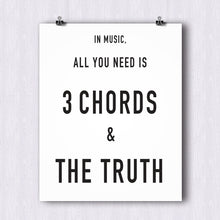 Load image into Gallery viewer, Three Chords and Truth Poster – Printable Download PDF & JPEG