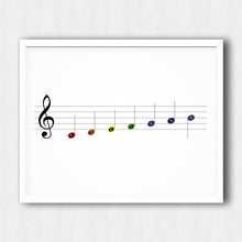 Load image into Gallery viewer, Music Notes Poster – Printable Download PDF & JPEG