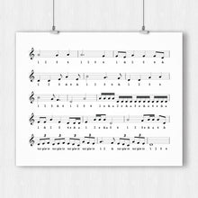 Load image into Gallery viewer, Music Timing Chart Poster – Printable Download PDF & JPEG