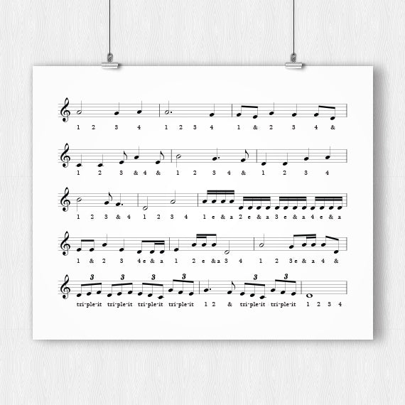 Music Timing Chart Poster – Printable Download PDF & JPEG