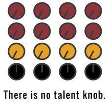 "Load image into Gallery viewer, ""There is no talent knob"" Poster – Printable Download PDF & JPEG."