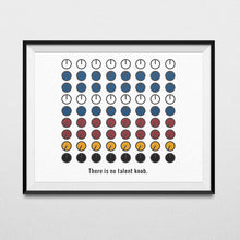 Load image into Gallery viewer, There is no talent knob - Music Art Poster