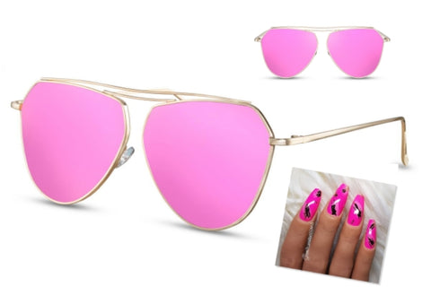 pink sparks sunglasses pink nails
