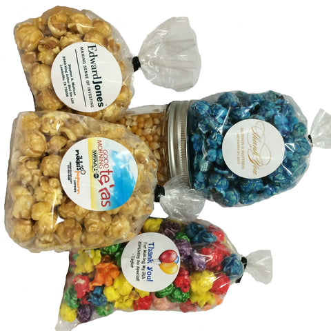 Custom Popcorn Favor Bags Wedding Shower Trade Show