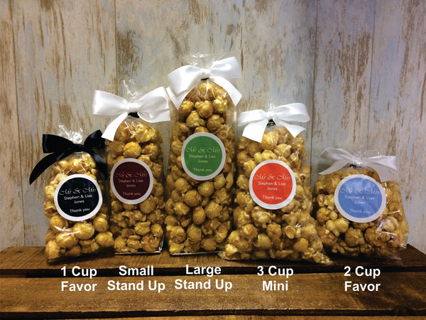 Custom Popcorn Party Favor Bag Sizes - Nikki's Popcorn Company