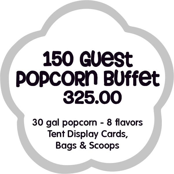 150 guest popcorn buffet bar dallas