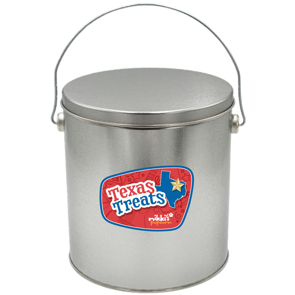 1 Gal Texas Popcorn Tin Can