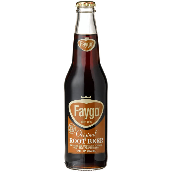 Faygo Root Beer Glass Bottle
