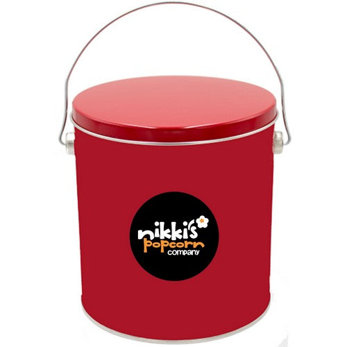 1 Gal Red Popcorn Tin Gourmet