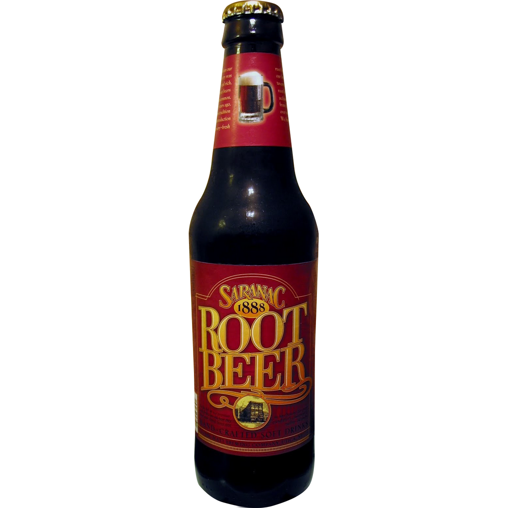 Saranac Root Beer Glass Bottle