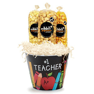 #1 Teacher Gift Pail Large - Nikki's Popcorn Company Dallas, TX