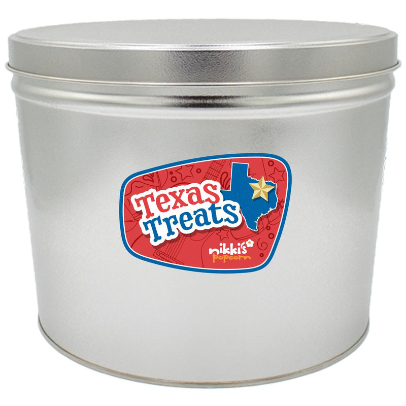 Texas Gift Popcorn Can Gourmet