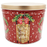 2 Gal Warm Winter Wishes Gourmet Popcorn Tin
