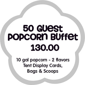50 Guest Popcorn Buffet Bar