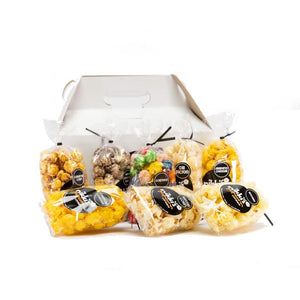 8 Pack Custom Branded Popcorn Sampler Gift Box