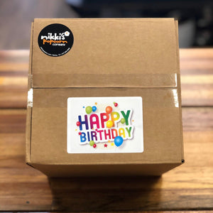 Birthday Popcorn Shipping Box