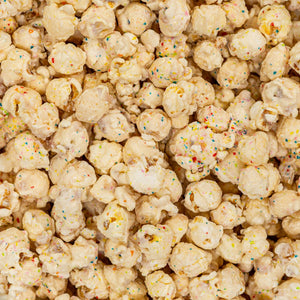 Birthday Cake White Chocolate Popcorn Dallas Nikkis Popcorn Company