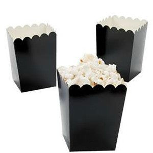 Black Treat-Favor-Popcorn Boxes - Nikki's Popcorn Company Dallas, TX