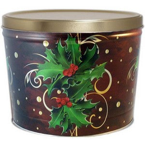 2 Gal Holly Gourmet Popcorn Tin - Nikki