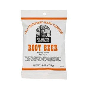 Claeys Root Beer Hard Candy - Nikki's Popcorn Company Dallas, TX