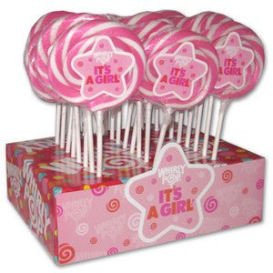 Its A Girl Lollipops (6) - Nikki's Popcorn Company Dallas, TX