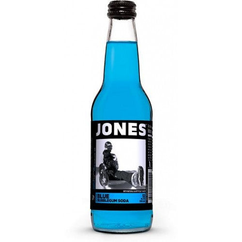 Jones Blue Bubble Gum Soda - Nikki's Popcorn Company Dallas, TX