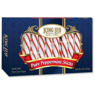 King Leo Peppermint Sticks - Nikki's Popcorn Company Dallas, TX