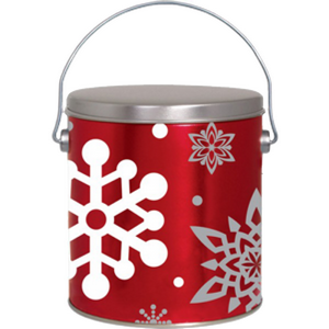 1 Gal Let It Snow Popcorn Gift Tin - Nikki's Popcorn Company Dallas, TX