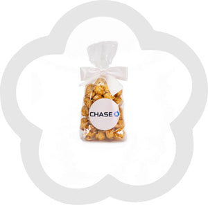 1 Cup Custom Labeled Popcorn Favor Bag - 25 Pieces