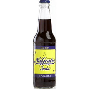 NuGrape Glass Bottle Soda