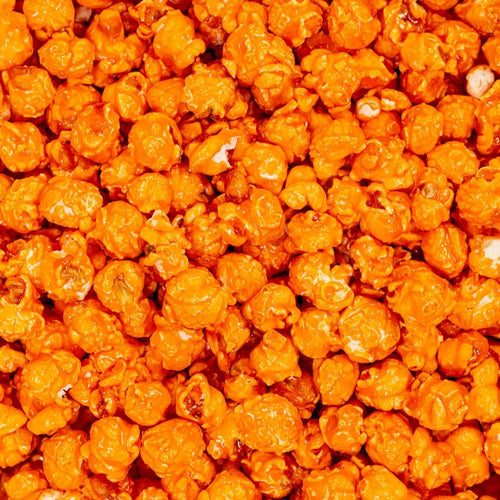 Orange Colored & Orange Flavored Popcorn Dallas TX