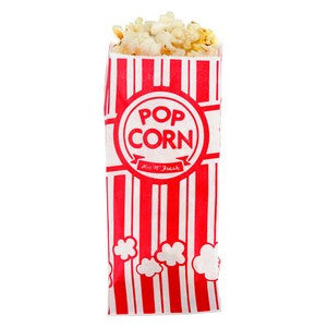 Red White Popcorn Bags
