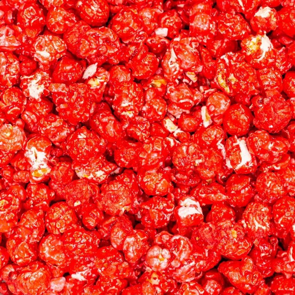 Red Colored Strawberry Popcorn