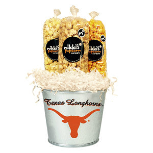 Texas Longhorns Popcorn Tin Pail