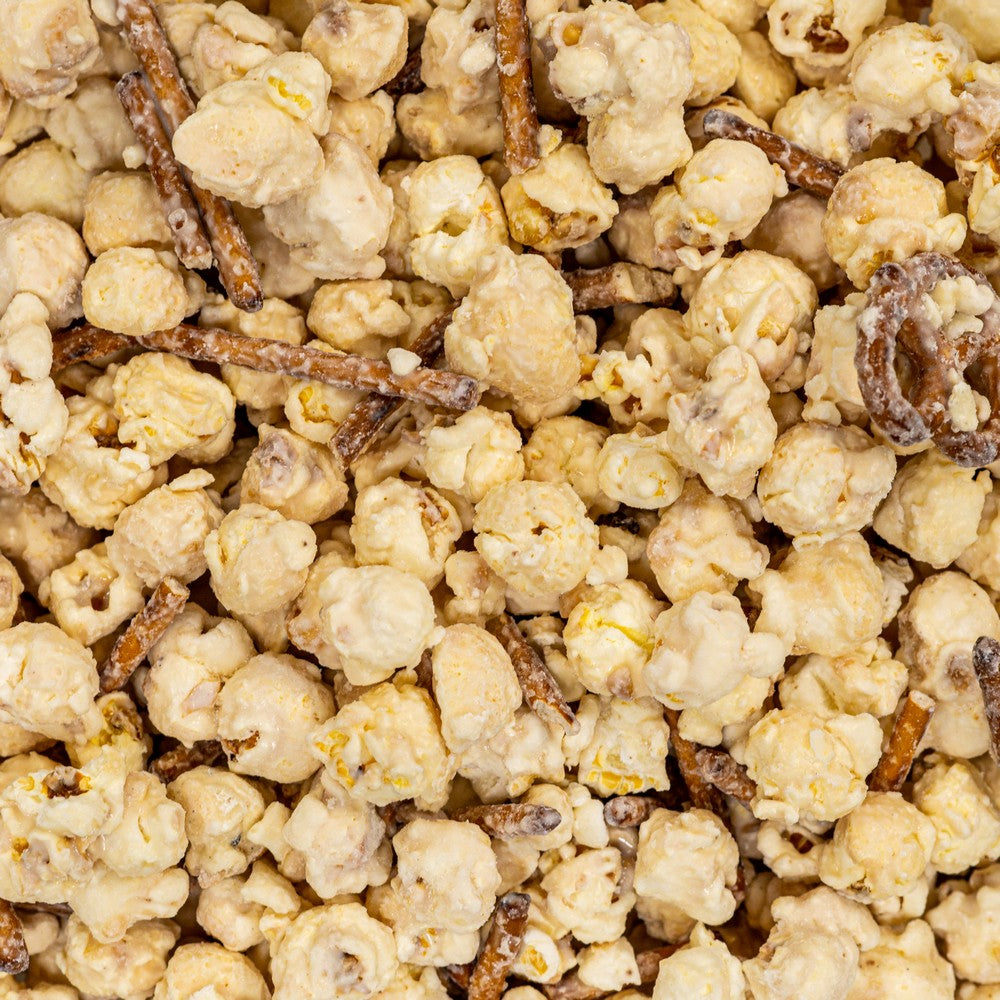 White Chocolate Pretzel Gourmet Popcorn Dallas TX