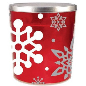 3.5 Let it Snow Popcorn Tin - Nikki's Popcorn Company Dallas, TX