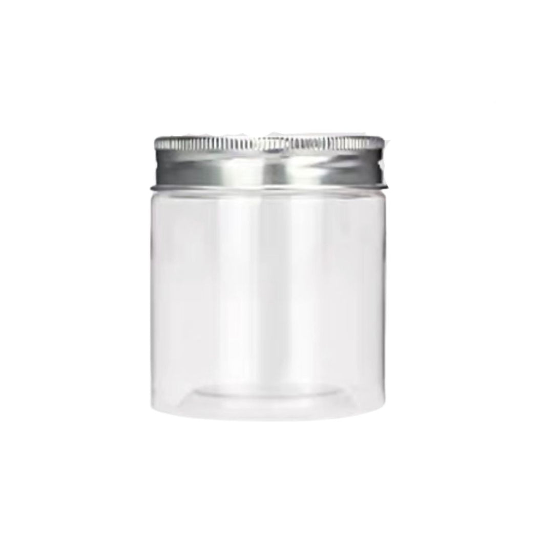 0810 Container with Silver Lid Cover Cookies Silver Jar Bottle 10pcs