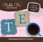 Pickle Pie Monogrammed Cork Coasters ITH