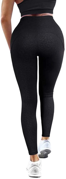 KUNISUIT - Yoga Pants High Waisted Compression Leggings with Pocket for Women