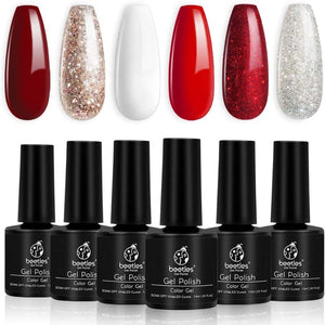 Beetles Candy Cane Gel Nail Polish Set - 6 Colors