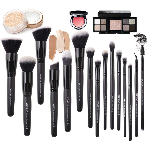 Makeup Brush Set - 15Pcs
