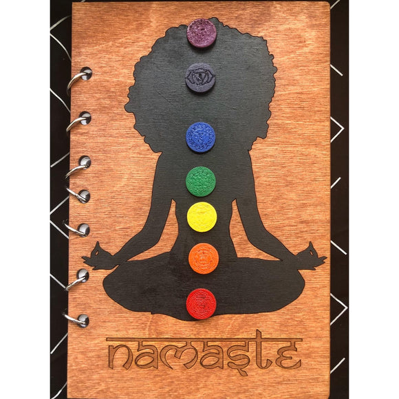 Refillable Wooden Journal - Chakra Khan