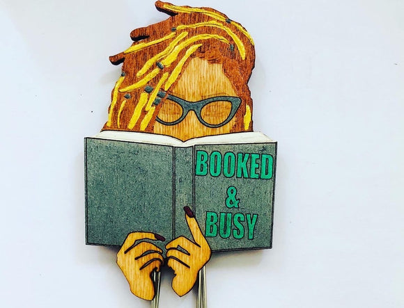 Booked & Busy Bookmark - Jessie Mae