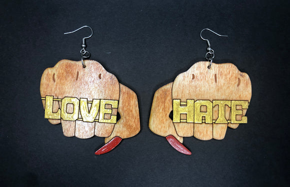 Love/Hate earrings