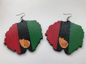 Earrings - RBG Afro (Vertical)