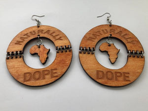 Earrings - Naturally Dope (Natural Wood)