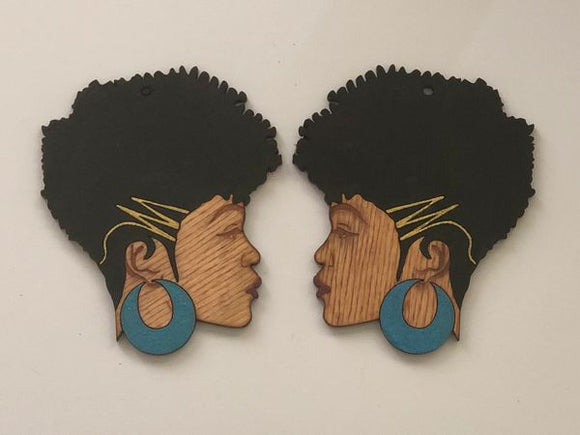 Earrings - Sheletha (Black Hair)