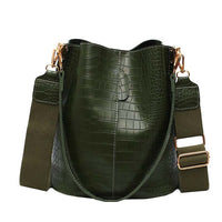 Retro Alligator Bucket Bag