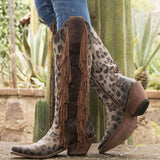 Fringed Leather Riding Boot