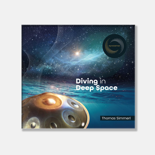 Handpan diving in deep space für eyvo das Klangei von Thomas Simmerl.